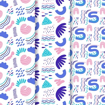 Abstract pattern collection drawn