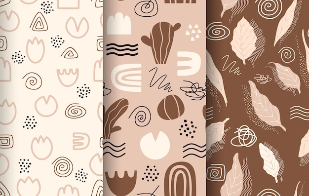 Abstract pattern collection drawn.