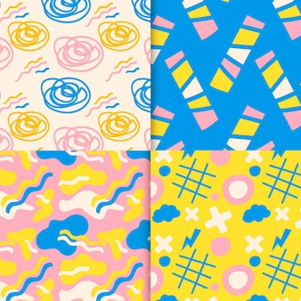 Abstract pattern collection theme