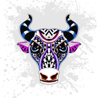 Abstract pattern of cow