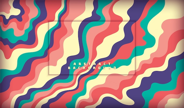 Abstract pattern design made of colorful fluid shapes.