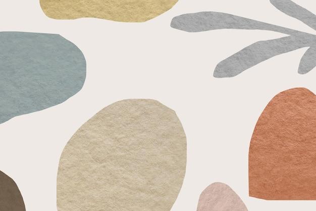 抽象的なパターンのアースカラーのデザイン