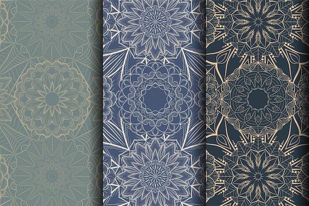 抽象的なパターンの花曼荼羅アート装飾