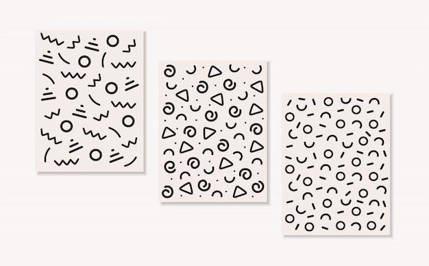 추상적 인 패턴, 기하학적 테마 컬렉션