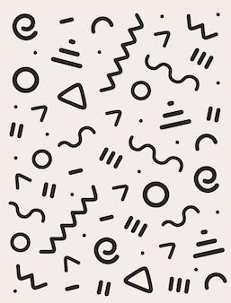 추상적 인 패턴, 기하학적 인 테마