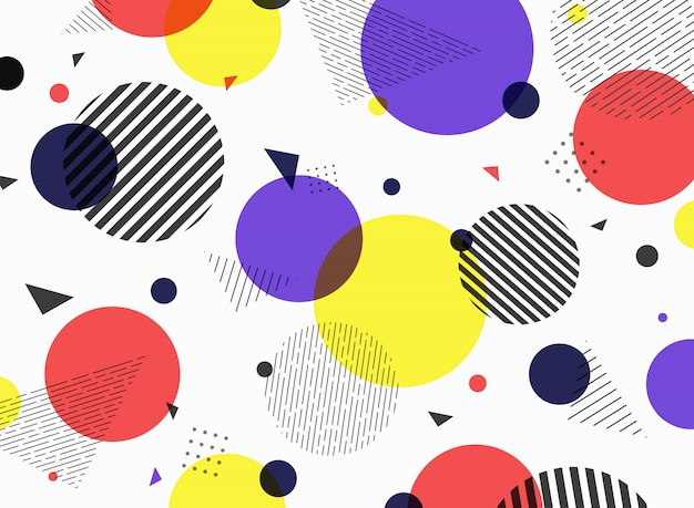 Abstract pattern geometric simple colorful shape design.