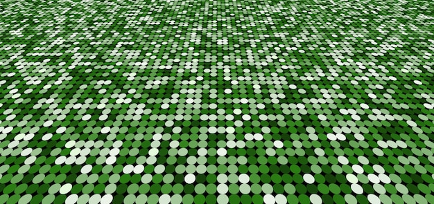 Abstract pattern green circles shimmer perspective background