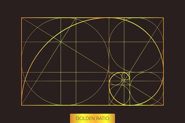 Abstract pattern on light backdrop. golden ration. abstract geometry. vector illustration.