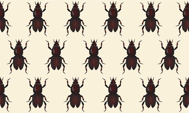 ベージュの背景に5月のカブトムシの抽象的なパターン