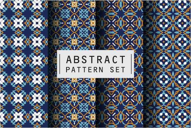 Abstract pattern set in ethnic decorative style