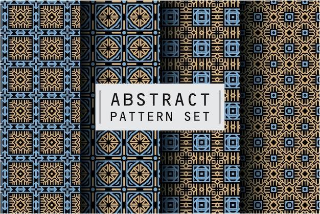 バティックモチーフの背景で設定された抽象的なパターン