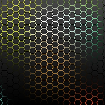 カラフルな六角形の抽象的なパターン