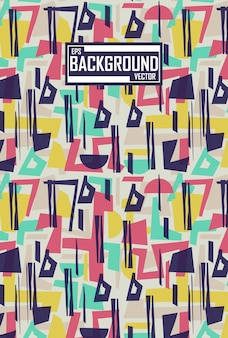 Abstract pattern with geometric concept Premium Vector