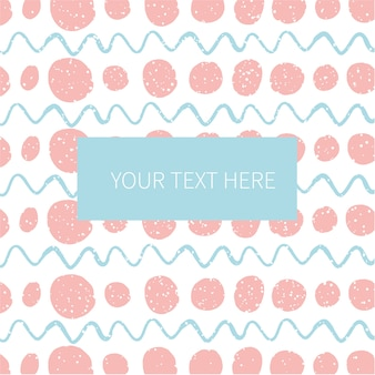 Abstract pattern with label for text