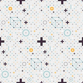 Abstract pattern with minimalistic geometric elements