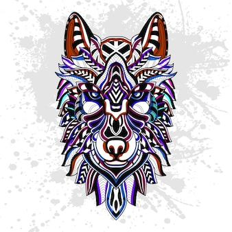Abstract pattern of wolf