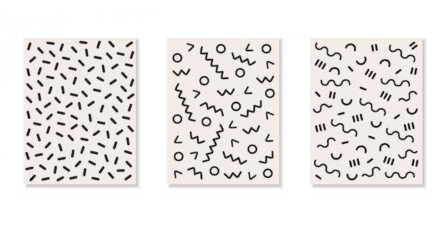 추상 패턴, 기하학적 테마 컬렉션