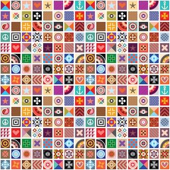 Abstract patterns seamless wallpaper