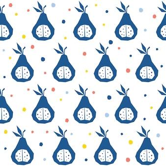 추상 배 완벽 한 패턴 배경입니다. 디자인 카드, 카페 메뉴, 벽지, 여름 선물 앨범, 스크랩북, 휴일 포장지, 섬유 직물, 가방 프린트, 티셔츠 등을 위한 유치한 수제 배