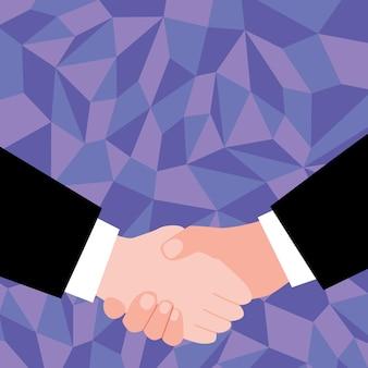 取引を受け入れる抽象的な人々、交渉協定を表示する画像、お互いを理解する人間、違いを受け入れる、平和を提供する封印取引