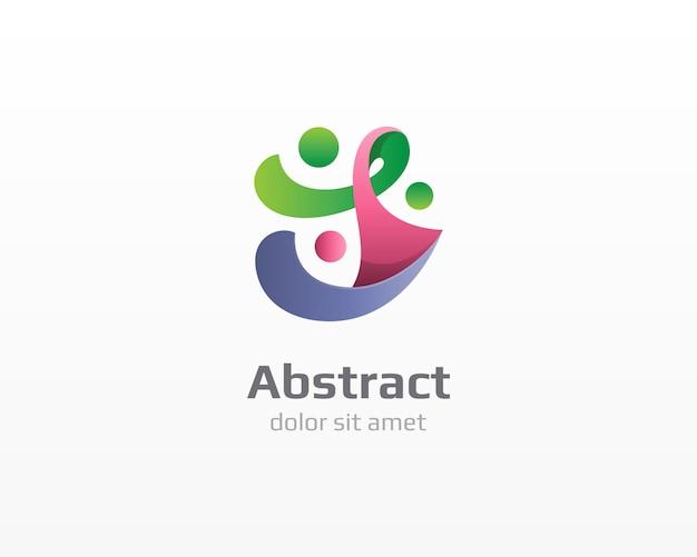 抽象的な人々コミュニティのロゴ