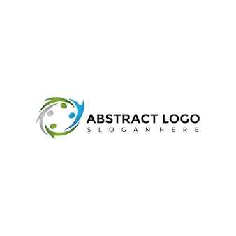 Abstract people logo template