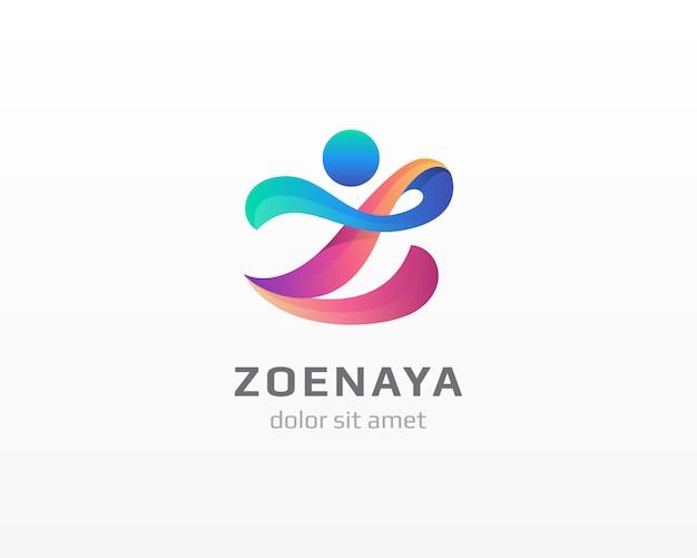 抽象的な人のロゴ