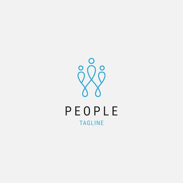 Abstract people premium logo icon design modern minimal with family illustration