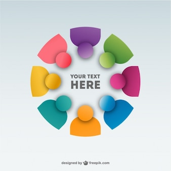 Abstract people team background design
