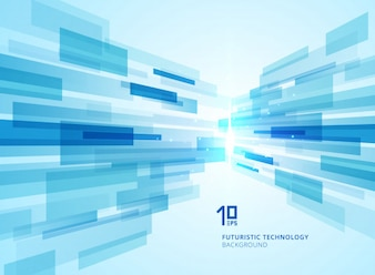 Abstract perspective futuristic technology blue background