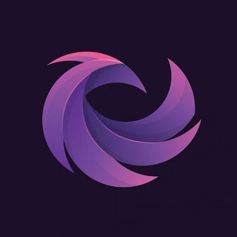 Abstract phoenix logo