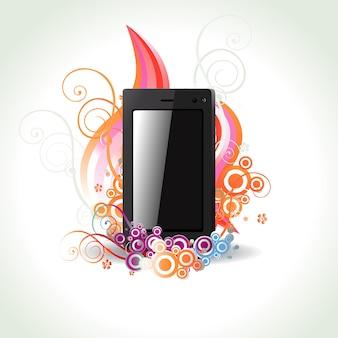 Abstract phone art illustration