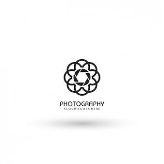 抽象写真ロゴテンプレート