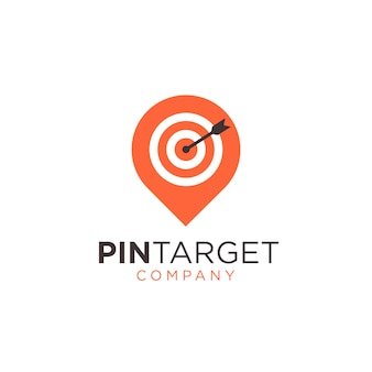 Abstract pin sign symbol logo