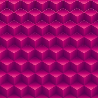 Abstract pink 3d cubes pattern background.