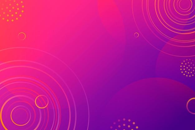 Абстрактный розовый и фиолетовый фон с круглыми формами Бесплатные векторы