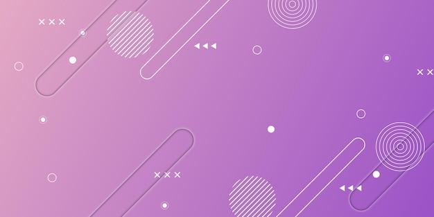 Абстрактная розовая и фиолетовая текстура градиента с элементами мемфиса векторная иллюстрация