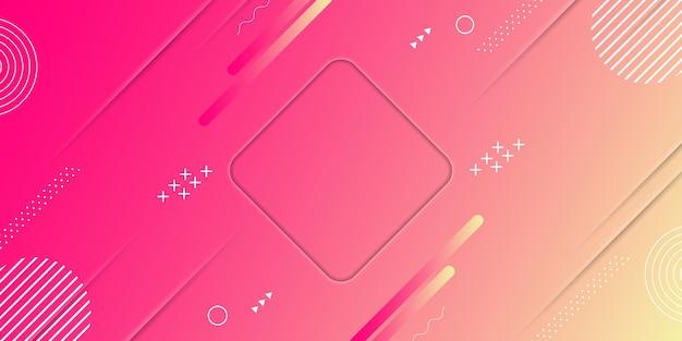 Абстрактная розовая и желтая текстура градиента с элементами мемфиса векторная иллюстрация