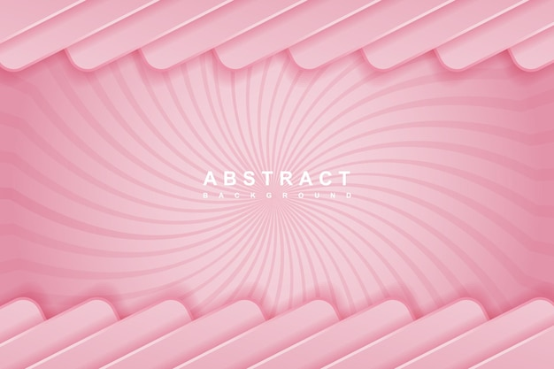 Abstract pink background with 3d shape concept