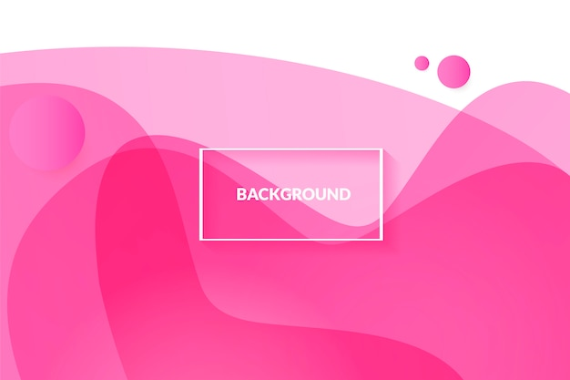 Abstract pink background with beautiful liquid fluid
