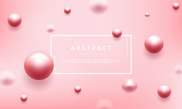 Abstract pink background with beautiful pearls