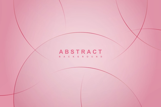 Abstract pink background with circle lines.