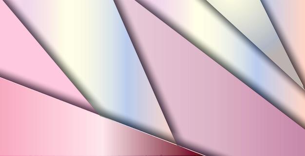 モダンな幾何学的なスタイルと抽象的なピンクの背景