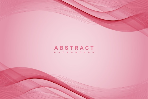 Abstract pink background with wavy lines