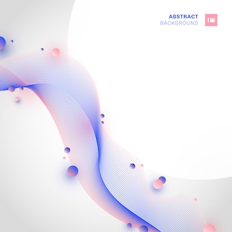 Abstract pink and blue wave line background