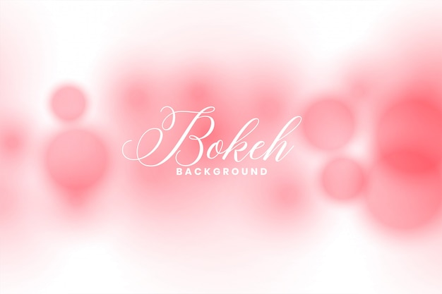 Abstract pink defocused bokeh light effect background
