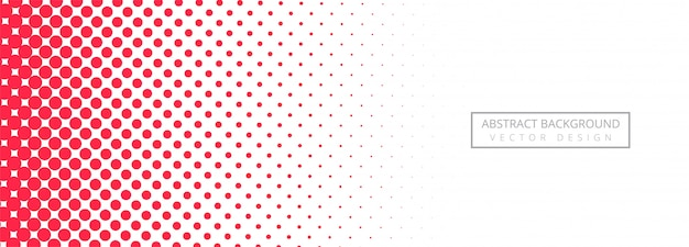 Abstract pink dotted banner background