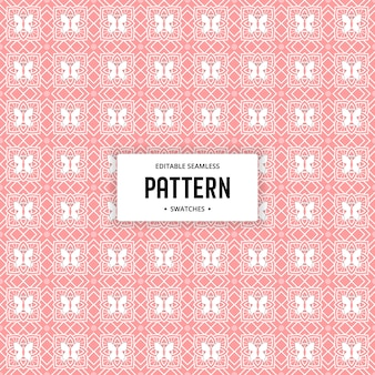 Abstract pink flower seamless editable pattern background
