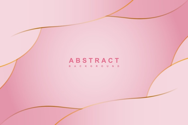 물결선 골드 요소와 추상 핑크 그라데이션 색 배경