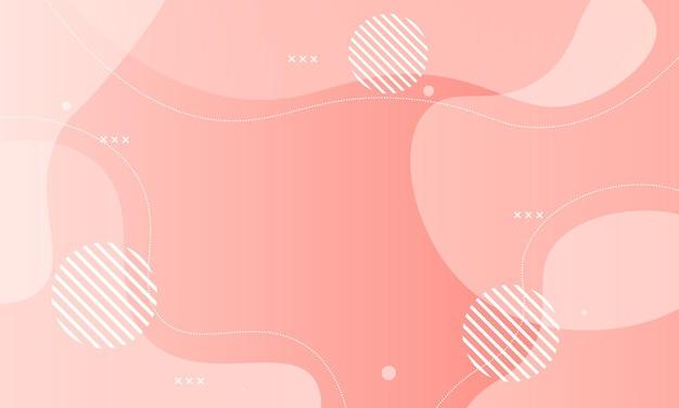 抽象的なピンクのグラデーション流体の背景。ベクトルイラスト。